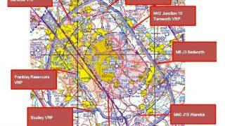Birmingham airspace VRPs