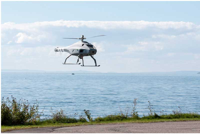 Drone over english channel