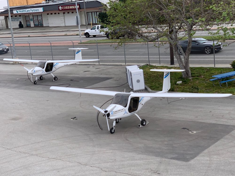 Pipistrel electric charging