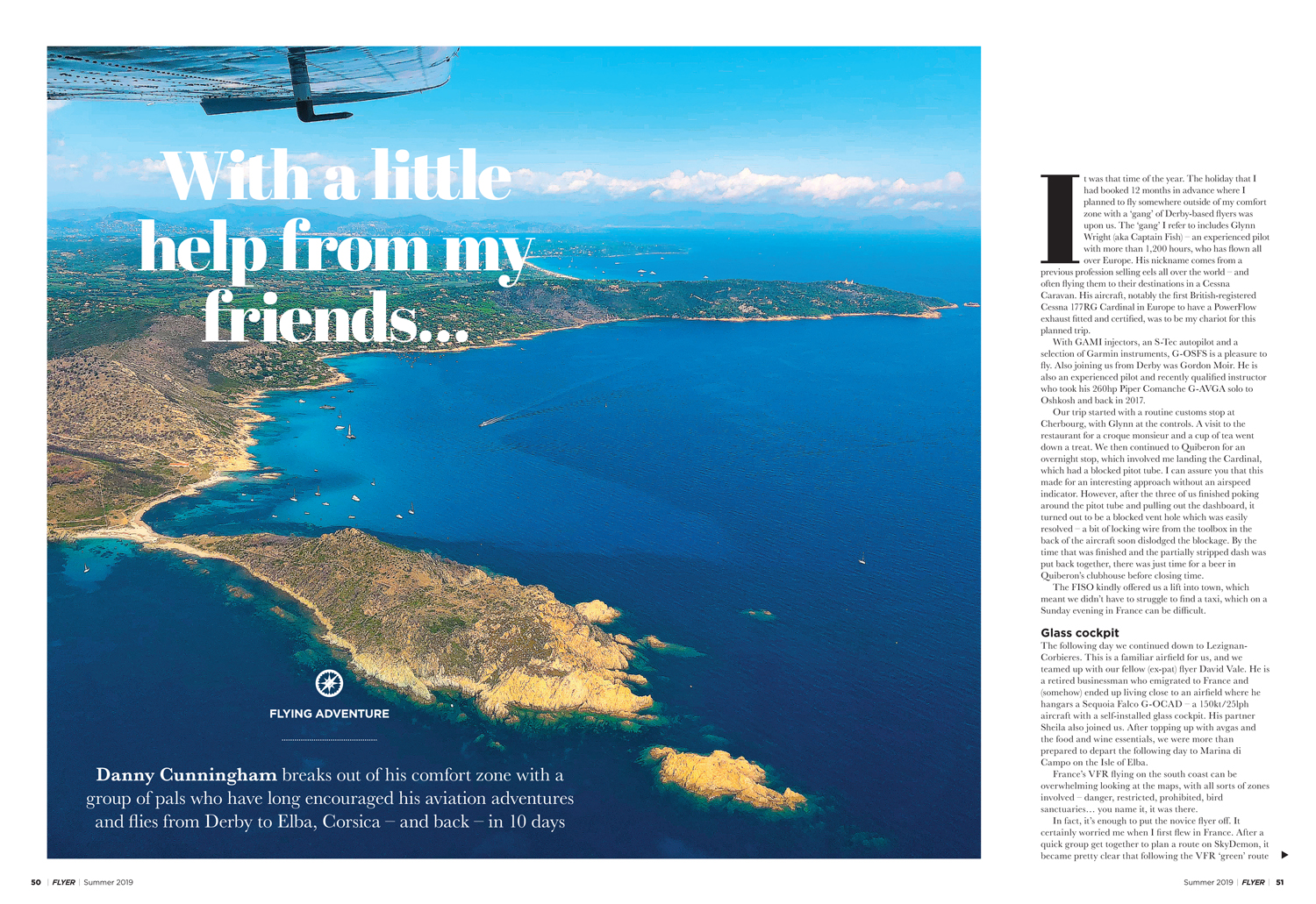 flying adventure to corsica
