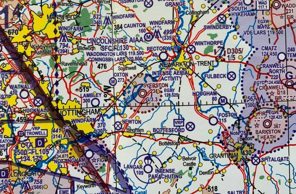 RAF Syerston CAA chart