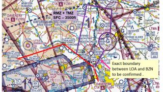 London Oxford Airport airspace
