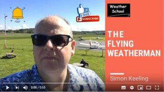 Simon Keeling flying weatherman