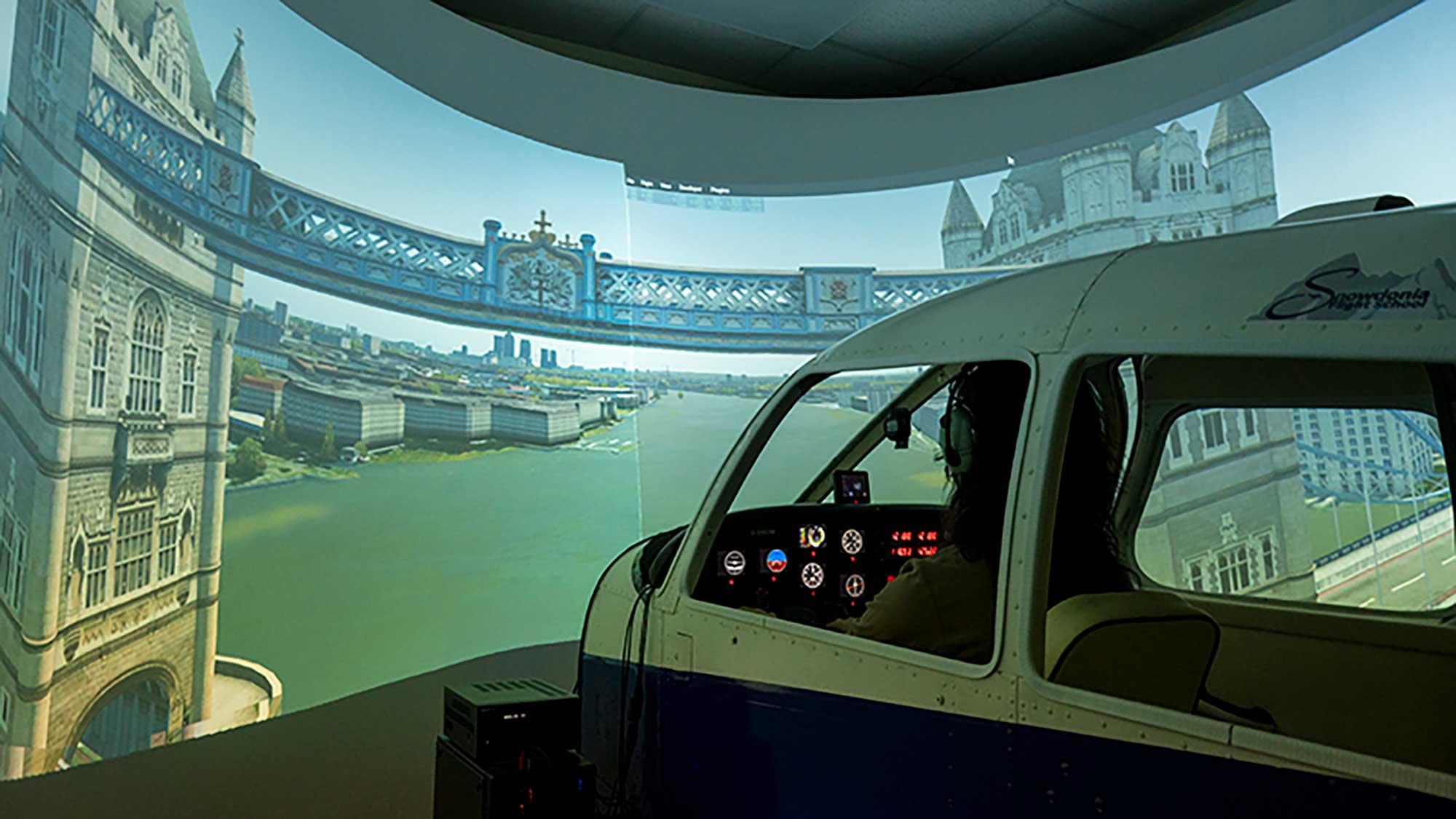 Snowdonia Flight sim