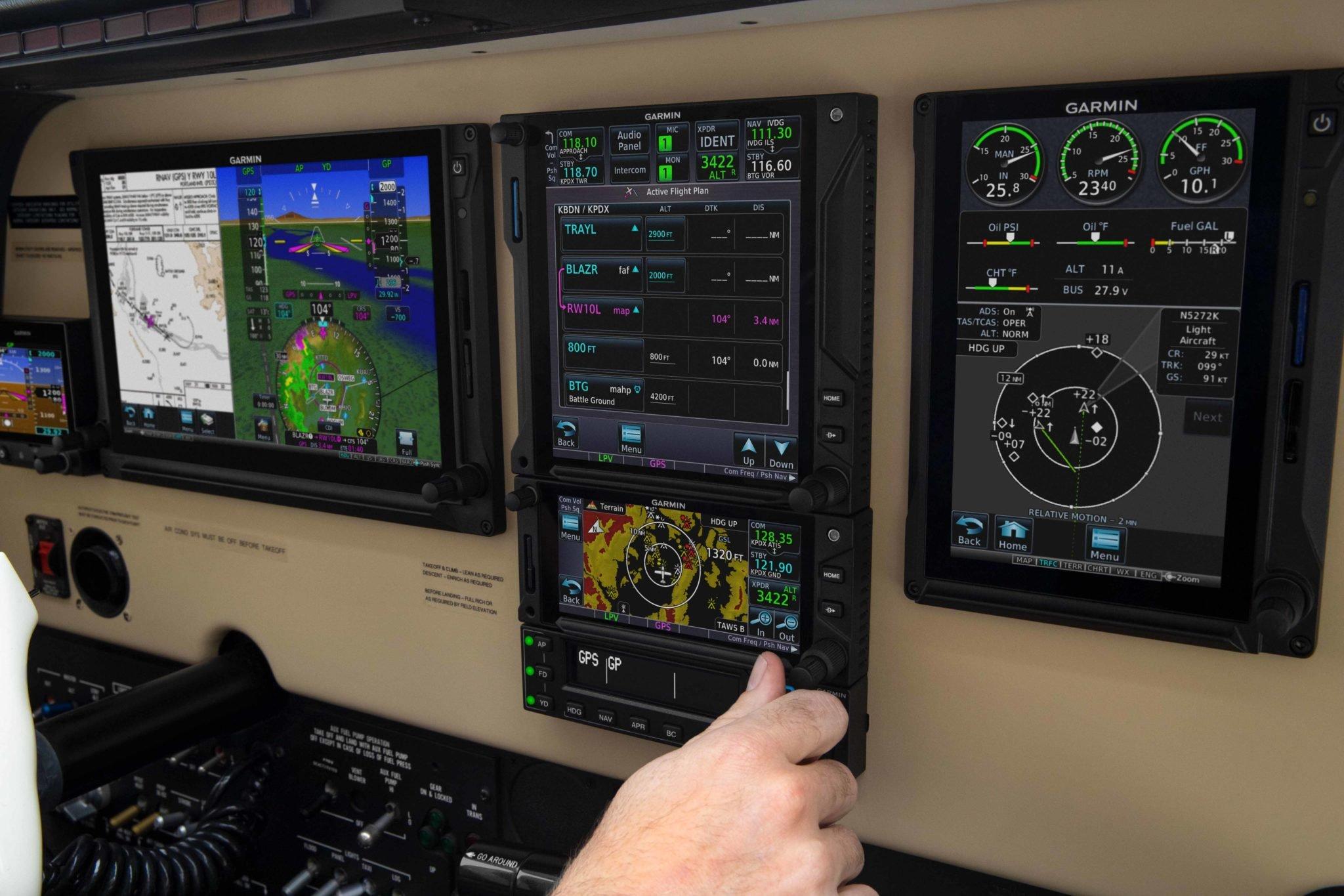Beech A-36 Bonanza panel