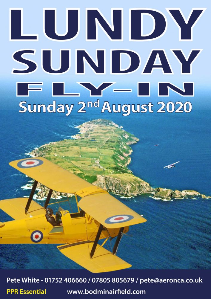 Lundy Sunday fly-in 2020