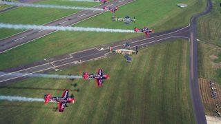 Blades-and-Biggin-Hill-Heritage-Hangar-Warbird-Flyover-@IanBlack