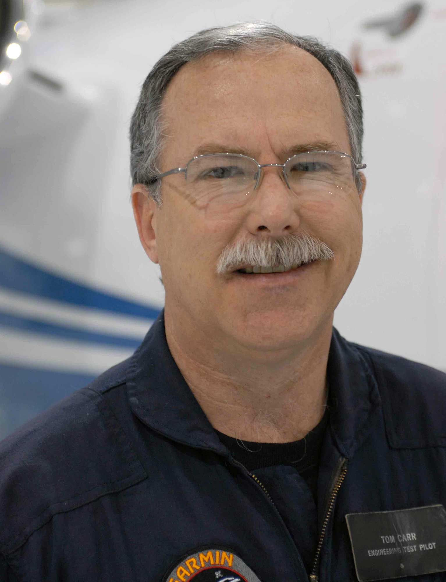 Tom Carr Garmin chief test pilot