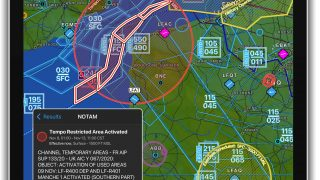 Garmin Pilot graphic notam