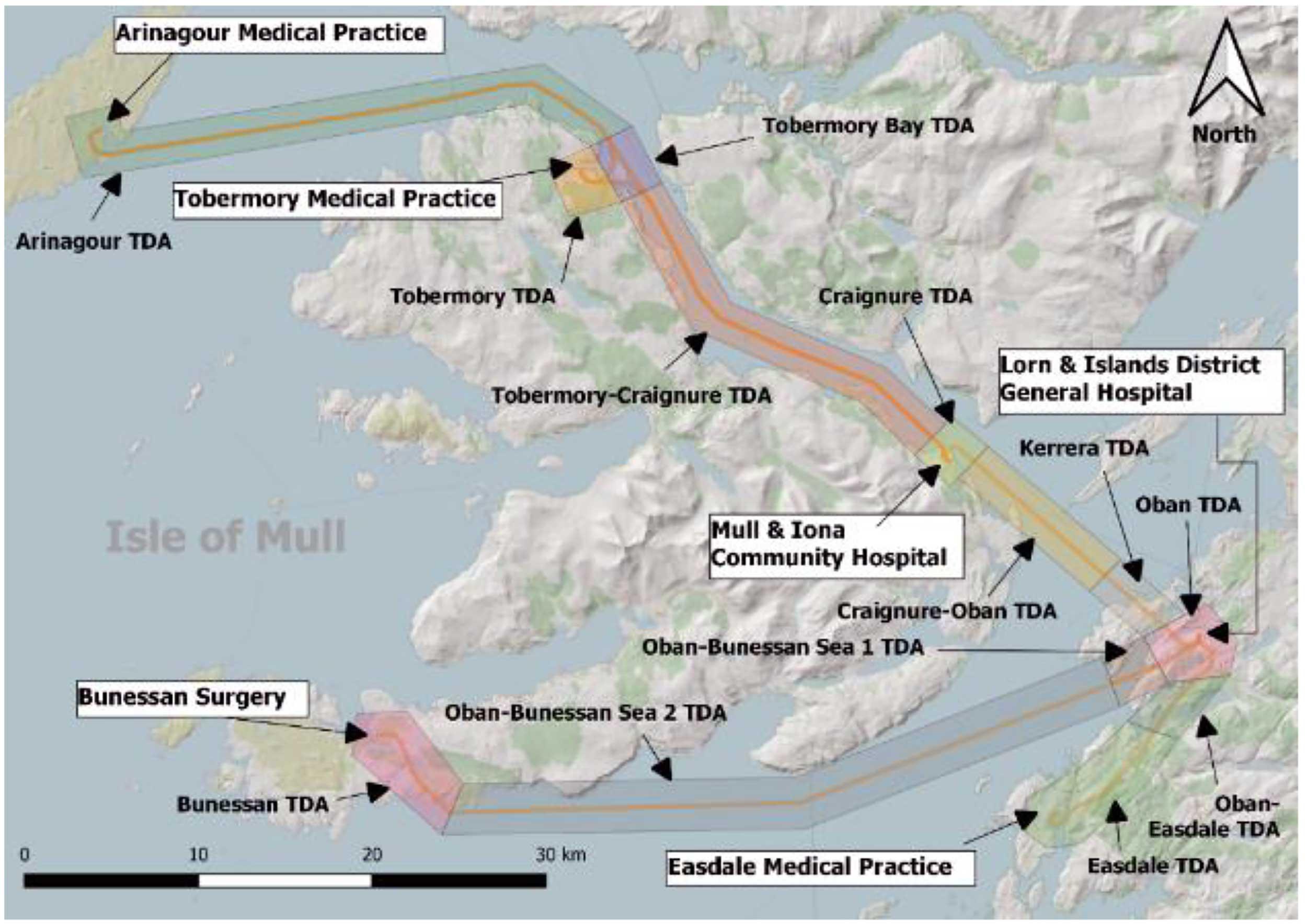 Oban Mull drones chart