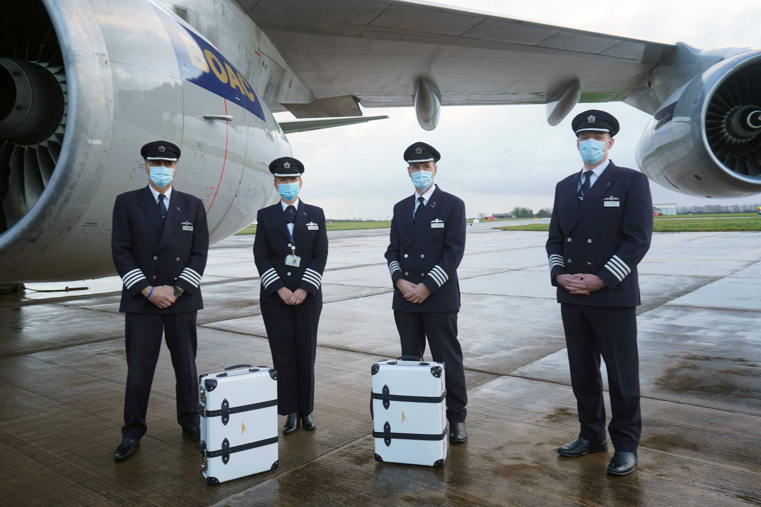 BOAC suitcases