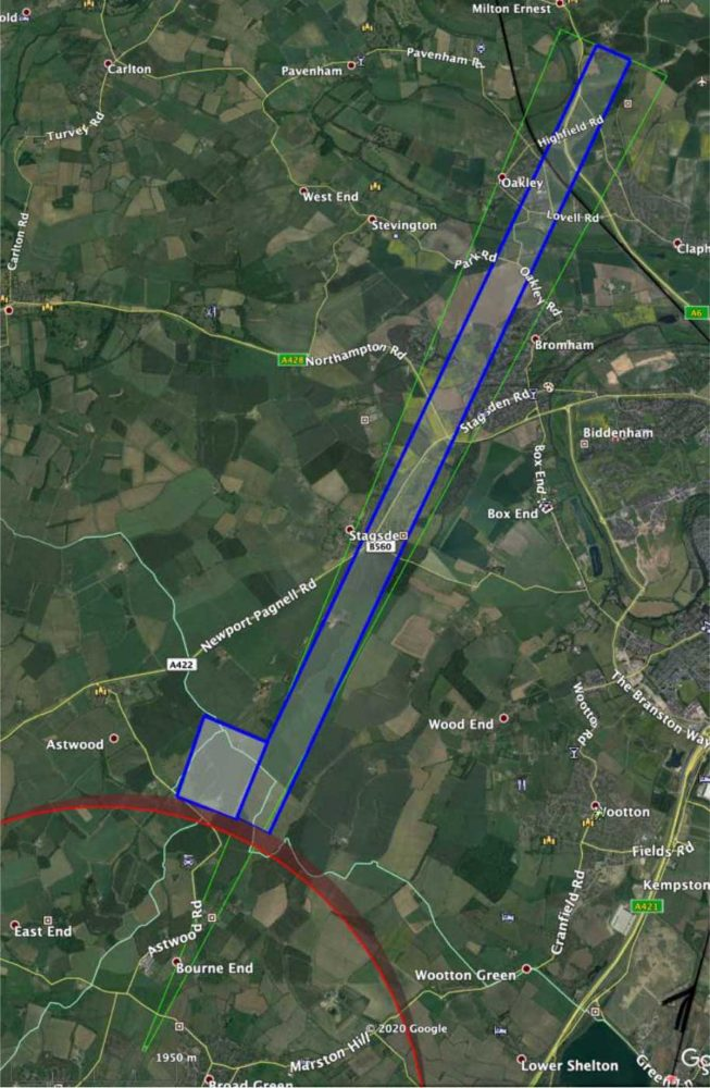 Cranfield drone corridor change