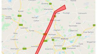 Cranfield NEBC drone route