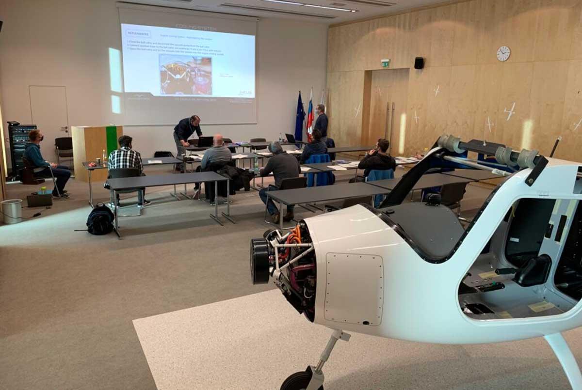 Pipistrel electric aircraft engineer training