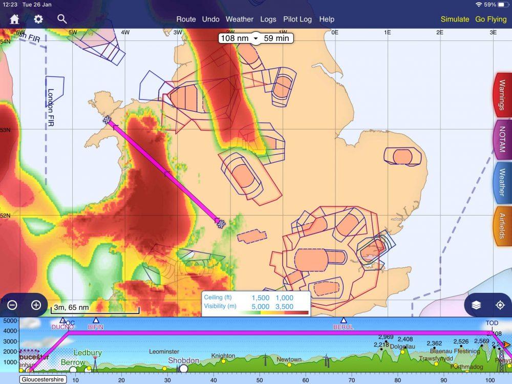 SkyDemon flyable weather