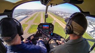Robinson Helicopter cockpit video