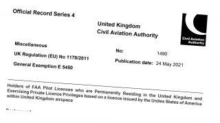 FAA PPL to UK