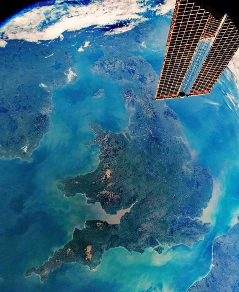 UK from Space Nasa photo