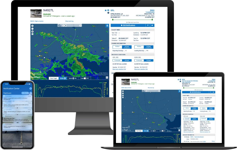 FlightAware Aviator
