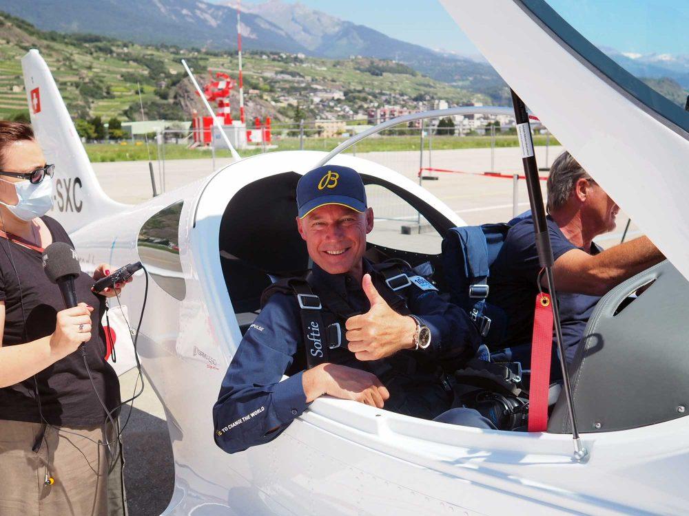 H55 Solar Impulse flight