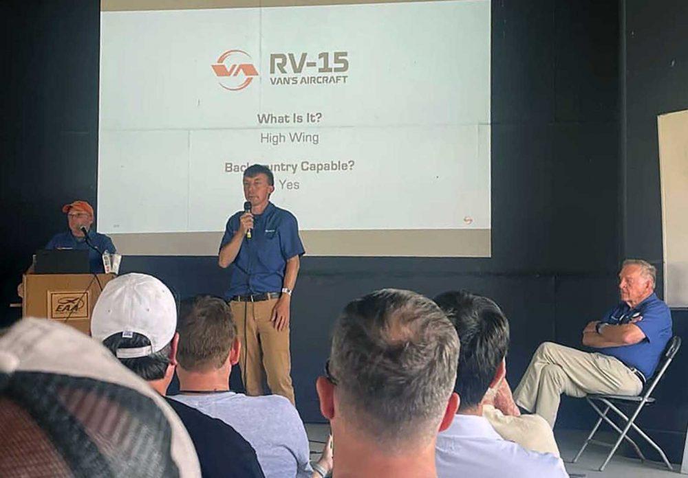 Vans RV-15 announcement