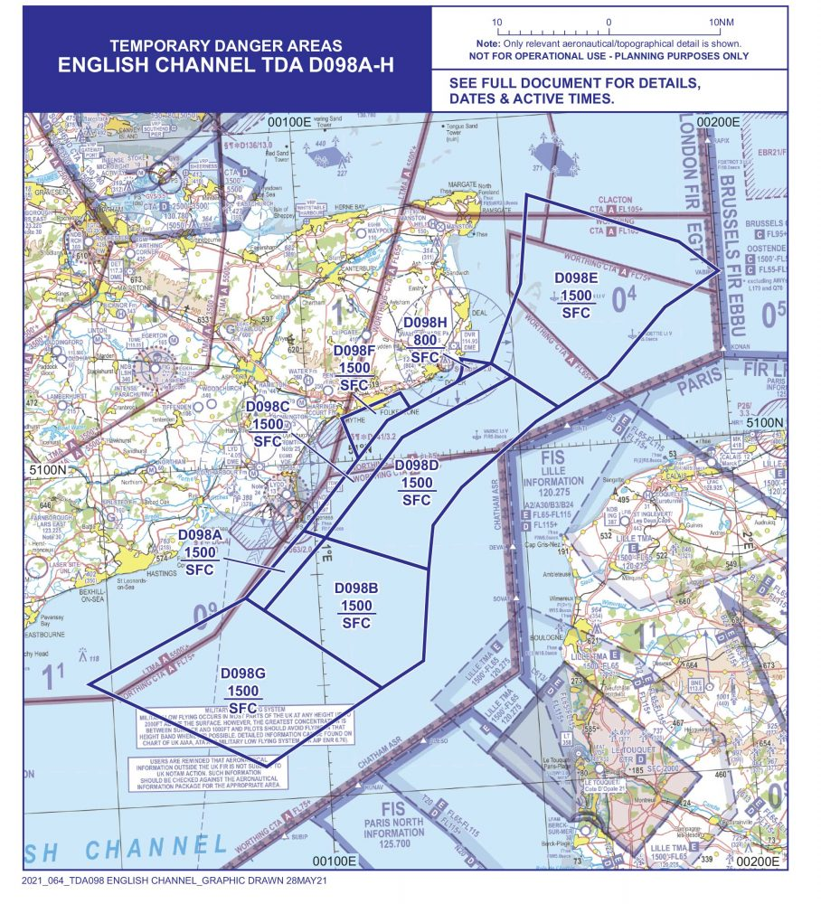 English Channel drone ops