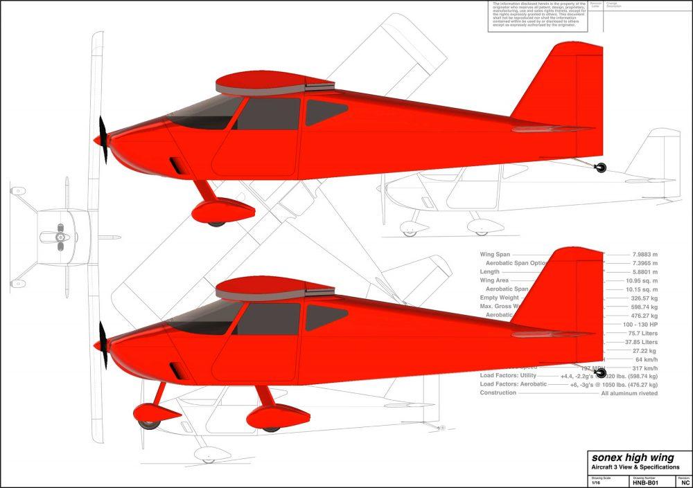 Sonex high wing kitplane